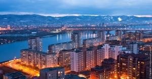 Krasnoyarsk urbain nuit